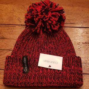 NWT - Calvin Klein Pom Hat